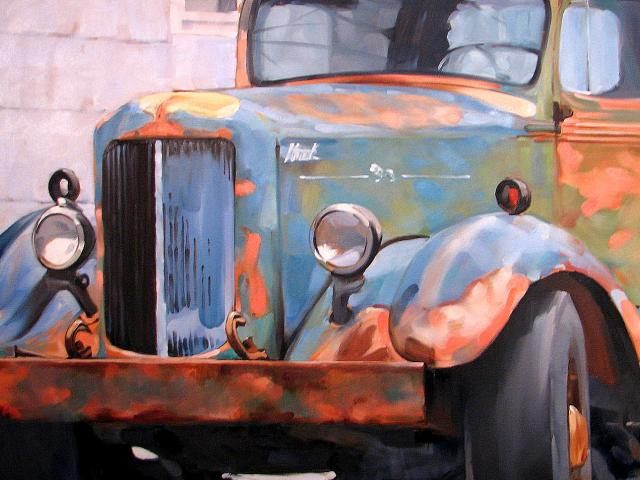 Liberty Street Truck, II, Oil on Canvas