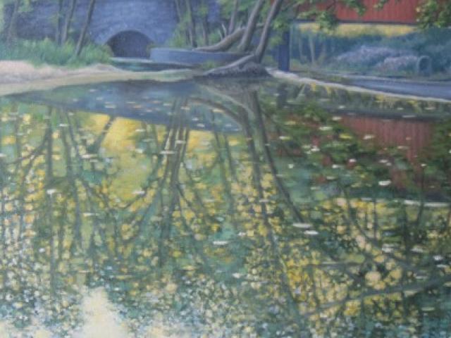 Bridge Reflection, Oil