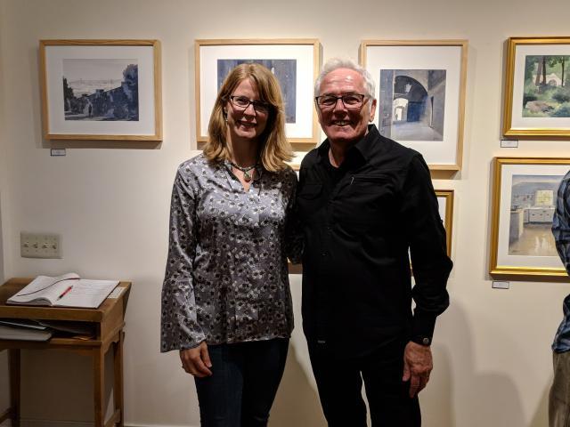 Artist Julia Rix and Gallery Owner, Joseph Borrelli