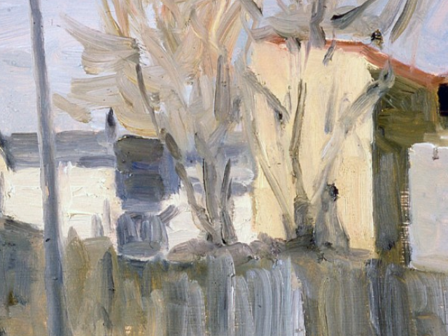 Building, Takats, Oil on Canvas