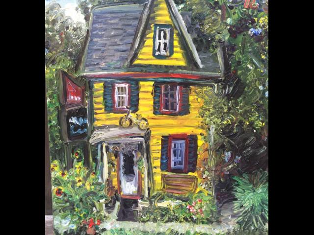 Connelly, Yellow House, Oil on Canvas