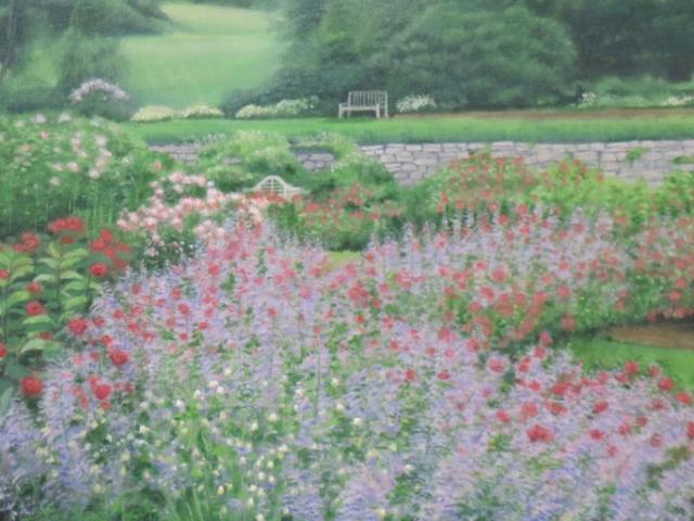In the Rose Garden,oil