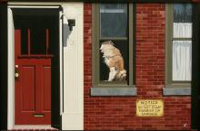 Doggy in the Window, Arnosky, Oil