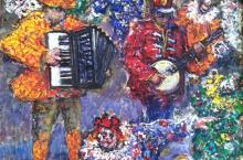 Mummers, Oil on Canvas, Phil Cohn